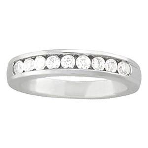 0.45 Carat Diamond Engagement Band Channel Set